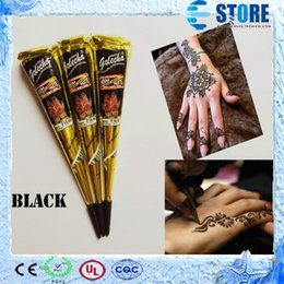 Wholesale New Black Indian Henna Tattoo Paste Tube Cone Body Art Temporary g Draw On Body By Yourself wu
