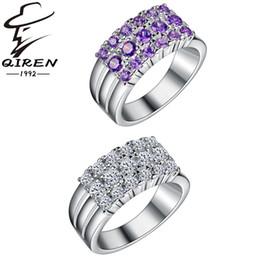 925 sterling silver rings women fashion purple aaa cz diamond ring wedding jewelry wholesale christmas gift high quality 3 color - Purple Diamond Wedding Ring