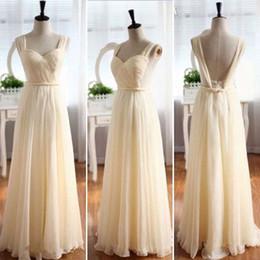 Plus size beige bridesmaid dress
