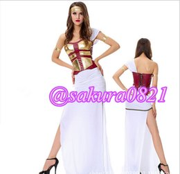 Wholesale Halloween costume Greek goddess dress Egyptianfloral Roman Arab solider girls costume Party Cosplay Anime Costume Greek split sexy suit