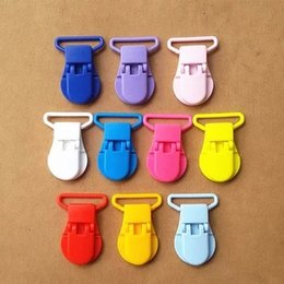 Wholesale 25Pcs Plastic Clips For Pacifier Soother Dummy Nuk Bib Toy Holder Suspender Tape width The gourd type plastic clips mm