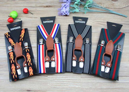 Wholesale Kids Suspenders Fashion Clip on Y Back Boys Girls Elastic Wedding Suspender Braces Belt Toddler Baby British Style Suspender style