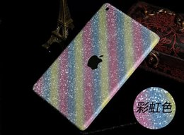 Luxe Glitter Bling Diamant pierre brillant Peau Face avant côtés Full boday autocollant Autocollants pour Ipad Mini 1 2 3 mini2 mini3 5 6 Air Air2 1pcs