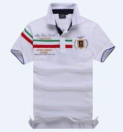 Wholesale New Arrival Camisa Polo Tee Shirts Embroidery Aeronautica Militare Polo Men Brand Polo Shirt Shorts Sleeve Shirt size M XXL K803