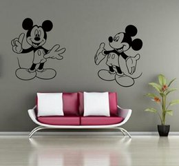 Mickey Mouse Minnie Mouse Miremovable Decal Home Decor Vinyl Decal Cartoon Outline Sketch Baby Room Wall Sticker