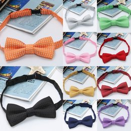 Wholesale Children Polka Dots Parttern Bow Ties Lovely Baby Kids Boy Girl Necktie Bowtie Children s Accessories Colors Choose QBB