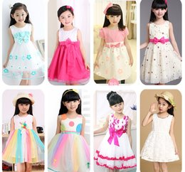 Wholesale SUMMER Korean Girls dresses princess dress baby tutu kid clothing MORE THAN STYLE MIXED STYLE SUIT FOR T