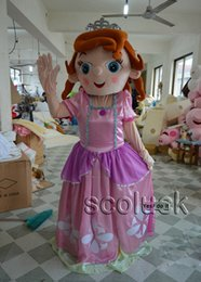 Wholesale Kindly Sofia Puzzle Pink Character Mascot Costumes Adult Size Sophia Suit