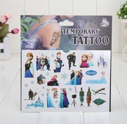 Wholesale 600pcs In Stock Frozen Kids Elsa Anna Body Tatoos Snow Queen Children Fashion Body Sticker Cartoon Child Gift Temporary Tattos
