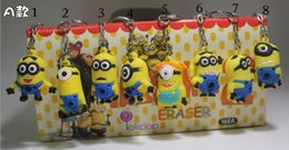 Wholesale 2014 New Despicable Me Fashion Accessories Children Lovely Cartoon Key Chain D Eyes Key Chain