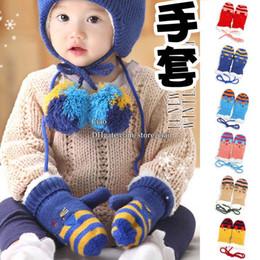 Wholesale Cat Knitted Mittens Children Gloves Kid Warm Mittens Boys Girls Wool Gloves Children Mittens Kids Gloves Winter Mittens Baby Crochet Gloves