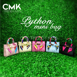 Wholesale CMK KB094 Customized Birki Bags With Scarves Colors Snakeskin Grain PU Leather Shinning Colors Min Order Color Shipped out in day