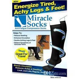 Prix de fabrique 300pairs / lot Chaussettes de miracle, chaussettes d'amincissement, chaussettes de compression médicales Freeshipping