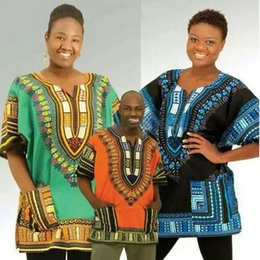 Wholesale 2016 harajuku Crop Top design african traditional Dashiki Plus Size Women T shirt for unisex Punk Pink Couple Clothes EF2257