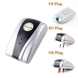 Poder Savers 90V-250V 18KW Energía Electricidad Energía Eléctrica Money Saver Caja de Ahorro Para el hogar estadounidense Plug (adaptador de la UE Reino Unido)