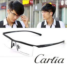 Wholesale p8189 eyeglasses new arrive metal men women eyeglasses Titanium frame of optical myopia box fashion glasses