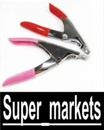 Wholesale Way Acrylic UV Gel False Nail Tip Clipper Cutter Edge Cutter Tips Pink