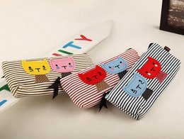 Wholesale Pouch B Lovely Cat Pattern Pencil Case Makeup Bag Coin Cellphone Storage Cosmetic