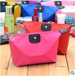 Wholesale 2016 Cute Women s Lady Travel Makeup Bags Cosmetic Storage Dumpling type Bag Pouch Clutch Handbag Casual Coin Purses Wallet Case