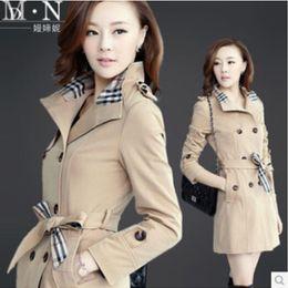Wholesale Women s windbreaker jacket new Korean women s long coat jacket Slim Trench Coat
