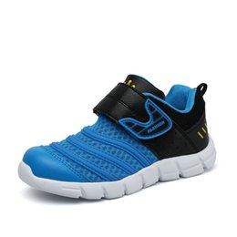 Wholesale 2015 New Fashion Brand Children Athletic Shoes Velcro Breathable Casual MD Sole Boys and Girls Running Shoes Summer for Kids Jogging Shoes