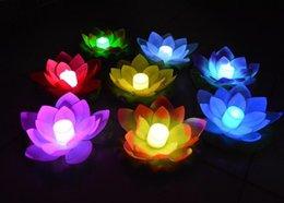 Wholesale 600pcs nuevo llega el LED de la lámpara en Lotus colorido Changed agua flotante piscina Deseando lámparas de luz de las linternas para la decoración
