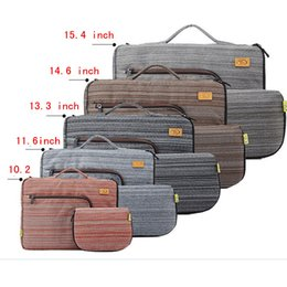 Discount tablet pc case bag handle shoulder bag for tablet 10inch laptop bag for ipad 2 3 ipad air sleeve case with handle PC handbag 10inch computer notebook cover Tablet bag