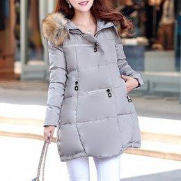 Wholesale Plus Size XL Winter Jacket Women Hot Sale Big Fur Collar Full Sleeve Long Coat Skirt Jackets Coats WWM850