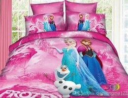 Wholesale 2014 New Movie Frozen Anna Elsa Sister Love Twin Quilt Cover Bedding frozen gift frozen pillow design sets in stock now