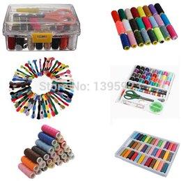 Wholesale 100PCS Pack Sewing Kit Thread Threader Needle Tape Measure Scissor Thimble Storage Box