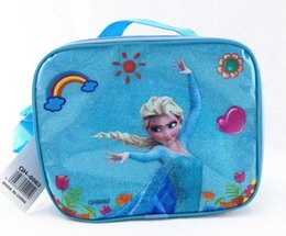 Wholesale Frozen Cartoon Lunch bag ice bag for Kids outdoor Box Set Nylon Frozen lunch box chlidren shoulder bag