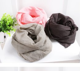 Wholesale 2014 Korean style Boys Girls Toddles Baby Soft Scarves Children Cotton Muffler Kids Long Scarf Pink Brown Grey CM