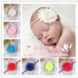 Wholesale Flower Headbands Pattern Hair Accessory Europe USA American Band For Infant Baby Big Flower Baby Head Band Kids Hair Wear