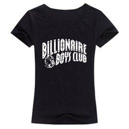 Wholesale Tees BILLIONAIRE BOYS CLUB T Shirts Women Letter BBC Woman T Shirt billionaire boys club O Neck Womens tshirt