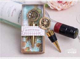 2017 bronze wine gifts 50pcs lot wedding favors gifts vintage bronze compass Wine Bottle Stopper present Keepsake souvenir
