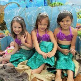 Wholesale Hug Me New Korean Baby Girls Bikini Kids Girl Swimwear Baby Swimsuit Ruffle Bow Princess Three Pieces Swim Cute Sequins Clothing BB