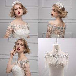 Wholesale Luxury bridal necklace lace chain accessories bridal shoulder strap chain bridal shoulder crystal bridal shoulder chain Wedding Accessory