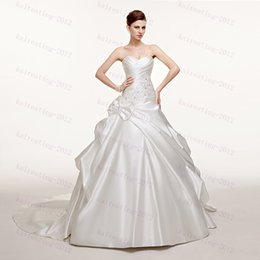 Wholesale Best selling In Stock Wedding Dresses Lace up Ball Gown Wedding Dresses