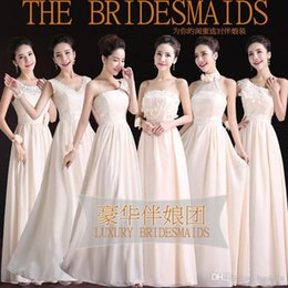 Wholesale 2015 luxury bridesmaids dress champagne style sisters Dresses backless evening dresses gowns dresses prom dresses DHL freeshipping