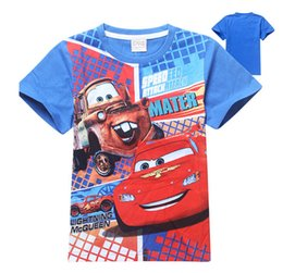 Wholesale 2015 Children T shirt Kids Cars T shirt Boys T shirt Children Cartoon Clothing Boys Cool Tops girl baby shirts