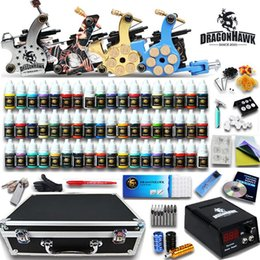 Wholesale Tattoo Kit Machine Gun Color Ink Power Supply Needles Complete D176GD
