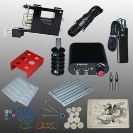 Wholesale Complete Tattoo kits tattoo guns machine black tattoo machine power supply disposable needle kit