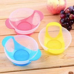 Wholesale High Quality Baby Infants feeding Bowl With Sucker Temperature Sensing Spoon Baby Learnning Dishes Assist food Spoon Bowl Set