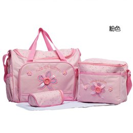 Wholesale Large Size Baby Shoulder Diaper Bags Nappy Mummy Bags Polka Dot Fashion Zip Waterproof Denim Multi function Mother s Bags