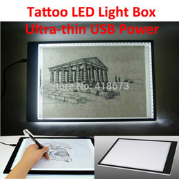 Wholesale 16 quot Ultra thin USB Power Tattoo LED Light Box Stencil Tracing Table Tracer LightPad Light Desk Lightbox Makes Tracing Easy