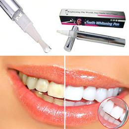 Wholesale 2pcs Hot Teeth Whitening Pen Tooth Gel Whitener Bleach Stain Eraser Remove Instant Kit Dental White Free Ship FG08114