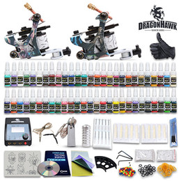 Wholesale Complete Tattoo Kits Tattoo Machines Gun Colors Tattoo Inks Sets Tattoo Power Supply Tattoo Needles Beginner Tattoo Kit D100GD