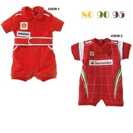 Wholesale Fashion brand Red Baby Rompers Baby Cotton Short Sleeve Jumpers Newborn One piece Clothing