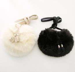 Wholesale 2016 Girls Fur Tassels Handbags Children Shoulder Bags Child Girl Fleece Tassel Bag D6223