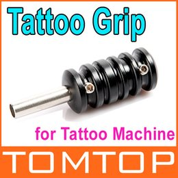 Wholesale 5 Aluminum Alloy quot Tattoo Grip with Back Stem for Tattoo Machine Gun Black Dropshipping